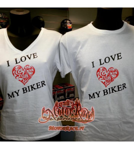 MAGLIETTA I LOVE MY BIKER MOTORRACE