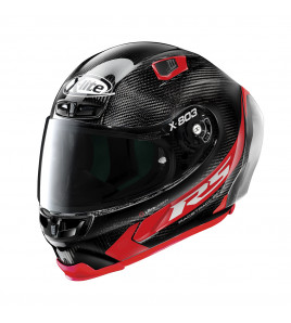 X-803 RS ULTRA CARBON HOT LAP CARBONIO ROSSO CASCO RACING