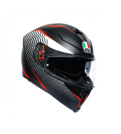 K5 S THUNDER MATT BLACK/WHITE/RED