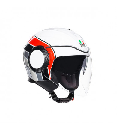 ORBYT BRERA WHITE/GREY/RED CASCO JET
