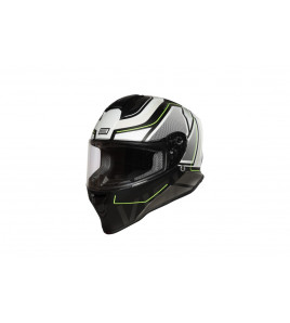 DINAMO GALAXI MATT WHITE-BLACK CASCO INTEGRALE
