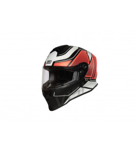 DINAMO GALAXI MATT FLUO RED-BLACK CASCO INTEGRALE