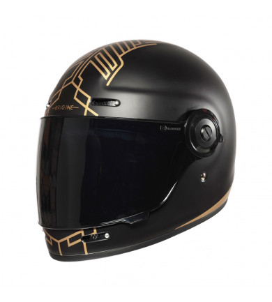 VEGA LIMITED EDITION NERO OPACO-ORO CON VISIERA SCURA CASCO INTEGRALE