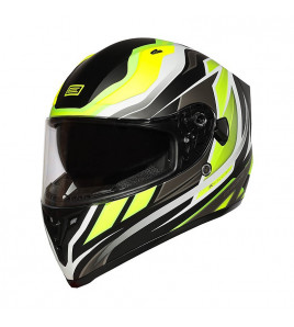 STRADA REVOLUTION ORIGINE - CASCO INTEGRALE MATT FLUO YELLOW/TITANIUM-BLACK