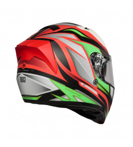 STRADA REVOLUTION MATT FLUO GREEN-RED-BLACK CASCO INTEGRALE