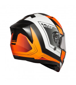 STRADA ADVANCED MATT FLUO-ORANGE-BLACK CASCO INTEGRALE