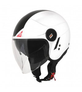 ALPHA ORIGINE - CASCO JET NEXT GLOSS BLACK/RED/WHITE