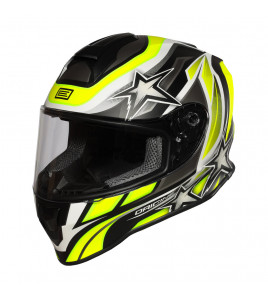 DINAMO KIDS STARS REVOLUTION MATT FLUO YELLOW-BLACK CASCO INTEGRALE BMBO