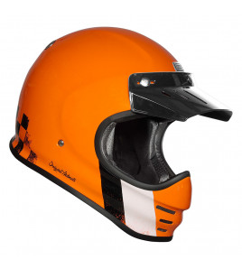 VIRGO DANNY ORANGE CASCO RETRO' ENDURO
