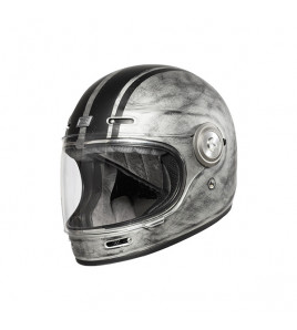 VEGA CUSTOM MATT SILVER CASCO RETRO' ORIGINE
