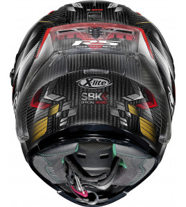 X-803 RS ULTRA CARBON SBK NERO ROSSO CASCO INTEGRALE RACING X-LITE