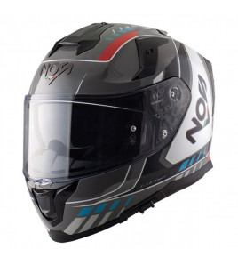 NS-10 MIG RED BLUE CASCO INTEGRALE NOS
