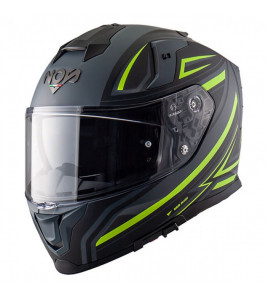 NS-10 FASTBACK NERO GIALLO FLUO CASCO INTEGRALE NOS