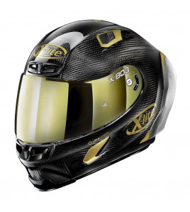 X-803 RS ULTRA CARBON GOLDEN EDITION CASCO RACING X-LITE