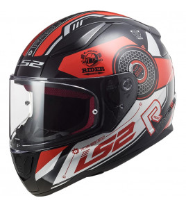 FF353 RAPID STRATUS BLACK RED SILVER CASCO INTEGRALE LS2