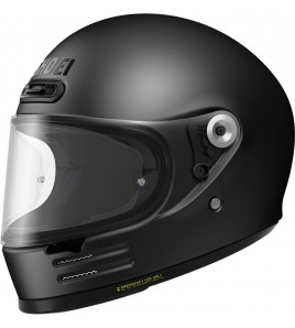 GLAMSTER MATT BLACK CASCO INTEGRALE RETRO'