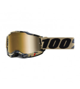 ACCURI 2 TARMAC VISIERA GOLD MASCHERA CROSS