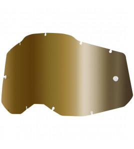 LENTE DARK MIRROR GOLD  MASCHERA ACCURI 2 RACECRAFT2 STRATA2