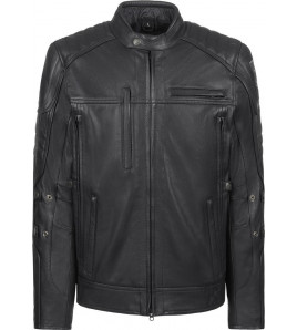 TECHNICAL LEATHER GIACCA IN PELLE JOHN DOE