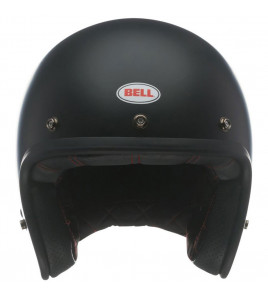 CUSTOM 500 SOLID MATT BLACK CASCO JET 3 BOTTONI  BELL