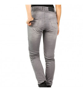 BETTY BIKER JEANS DONNA LIGHT GREY CON PROTEZIONI JOHN DOE