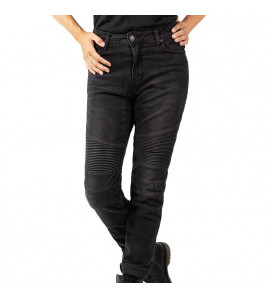 BETTY BIKER BLACK USED JEANS DONNA CON PROTEZIONI JOHN DOE