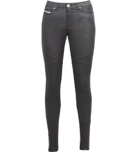 BETTY BIKER  LEGGINGS ANTI ABRASIONE E PROTEZIONI BLACK JOHN DOE